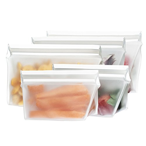 rezip 5-Piece Stand-Up Leakproof Reusable Storage Bag Starter Kit 8/4-ounce ()