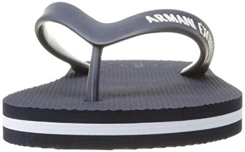 A|X Armani Exchange Men's Armani Exchange Solid Flip Flop, Navy/White, 8 M US Photo #8