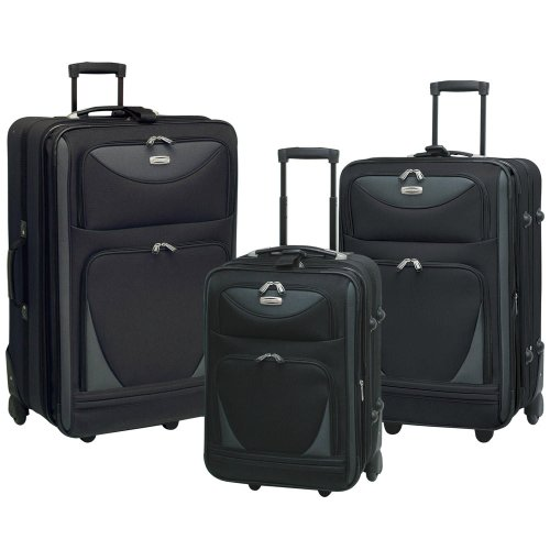 Tone Expandable Travel Set - Sky View Collection- 3pc EVA Expandable 3 pc set in Black