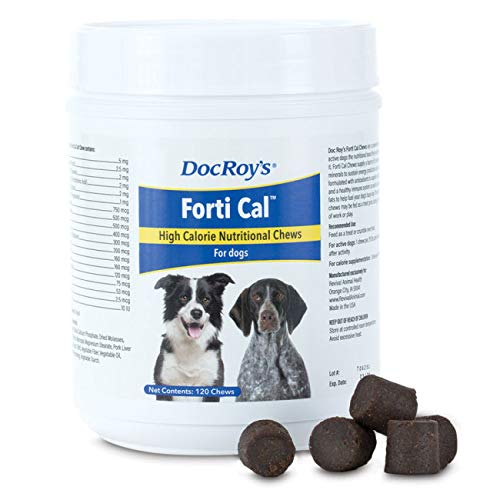 (Revival Animal Health Doc Roy's FORTI Cal - 120 ct Soft Energy Chews for Dogs and)