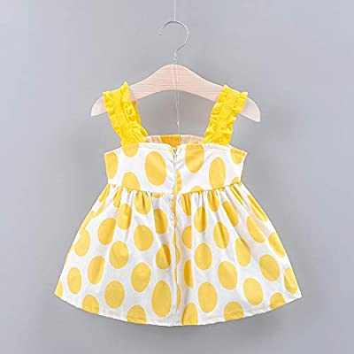 F_Gotal Baby Toddle Girls Dress for 6M-3Y, Kids Cute Strap Bow Dot Print Tutu Skirt Dress Tulle Pageant Dress Princess: Clothing