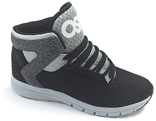 Osiris Equinox LTE Men's Sneaker 13 D(M) US Black-Light Grey-Elephant (High Top Shoes Black Osiris)