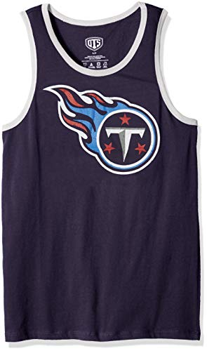 NFL Tennessee Titans Male NFL OTS Cotton Tank Distressed, Light Navy, Large