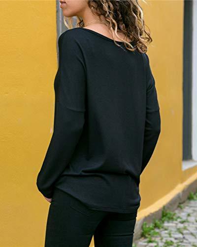 Sciolto Autunno Colore Blocco Minetom Bluse Shirts Camicia di Casuale Shirt Donne Camicetta Maglietta Elegante Grigio Blusa T Manica Tops Lunga 6wfZ6Rnx