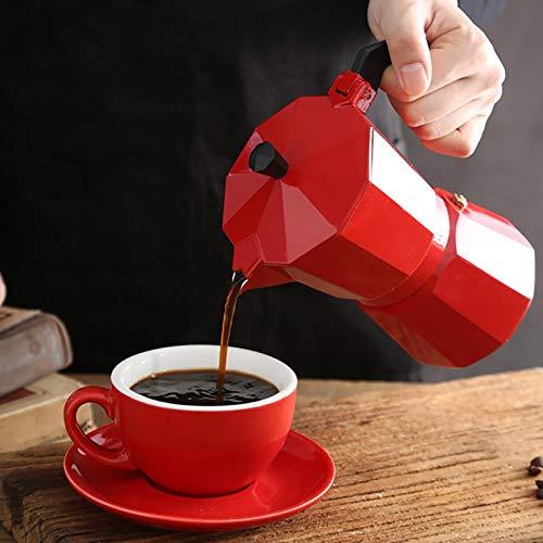 JIUYUE Cafetera Francesa Baispo Aluminio Mocha Cafetera Italiana ...