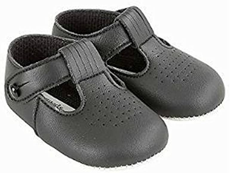 Baby Boys T Bar Pram Shoes with Hole
