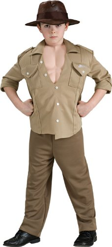Deluxe Muscle Chest Indiana Jones Costume,Small 4-6