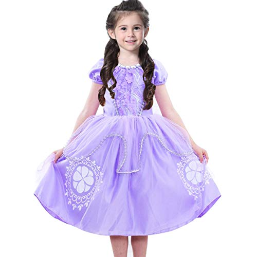 Princess Sofia The First Costumes Girls Birthday Cosplay Party Purple Fancy Dresses Halloween Christmas 2-13 Years