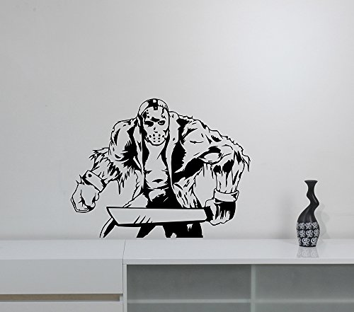 Jason Voorhees Wall Sticker Vinyl Decal Movie Art Horror Decorations for Home Living Room Bedroom Decor -