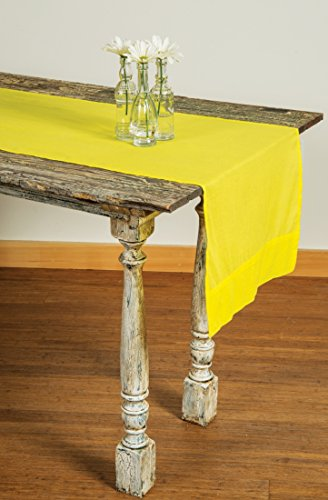 Luna Bazaar Buttercup Yellow Table Runner- (16 Inches x 7.5 Feet, 100% Cotton)
