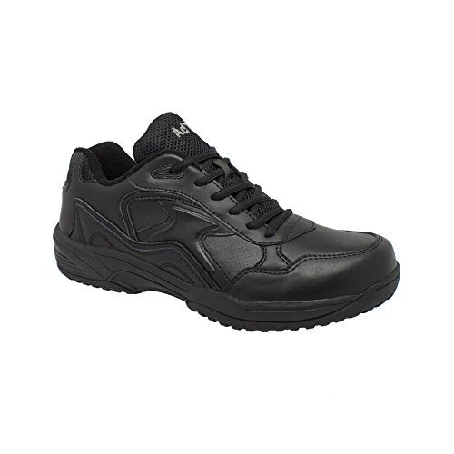 Slip Resistant Uniform - Adtec Men's Composite Toe Athletic-M Uniform Shoes, Black, 8 M US