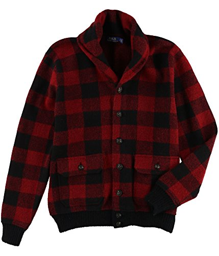 onic Skeet Cardigan Sweater (RedBlack Plaid, S) ()