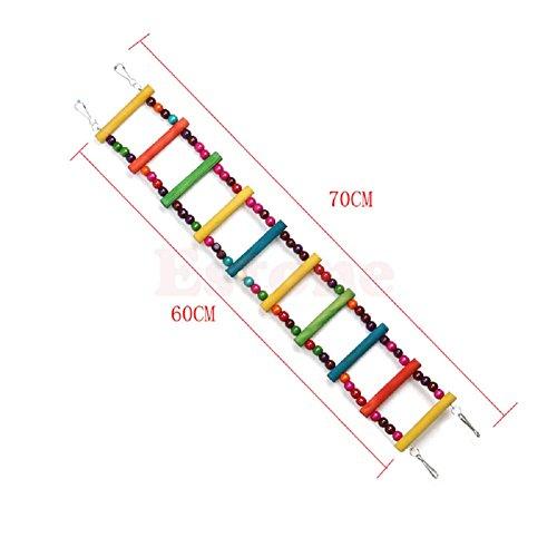 Itemap Pet Bird Swing Wooden Bridge Ladder Climb Parakeets Cockatiels Parakeet Budgie Parrot Toy (5 Steps) (10 steps) by Itemap (Image #9)