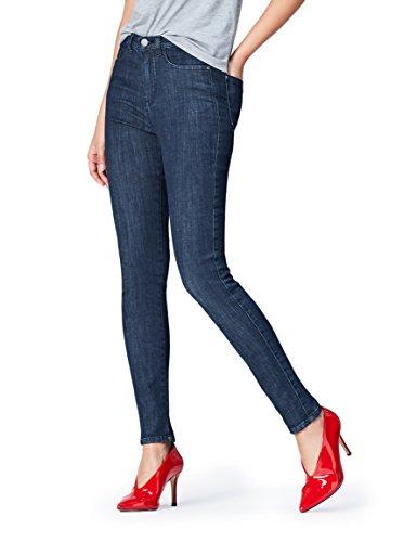 Femme FIND Taille Normale Bleu Jean Indigo Skinny qxUwCzBO