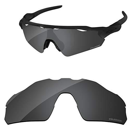 ddbc449862e27 Amazon.com  PapaViva Lenses Replacement for Oakley Radar EV Pitch Black Grey    Chrome Silver   Bluish Green  Clothing