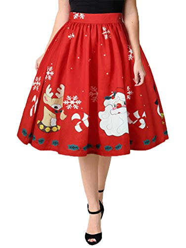 (ezShe Women's Elastic Waist Polka Dot Bubble Pleated Skirt, 023 Xmax L)