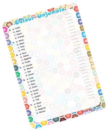 Party Stuff Color Theme Paper Games - Colour Jumble Set ...