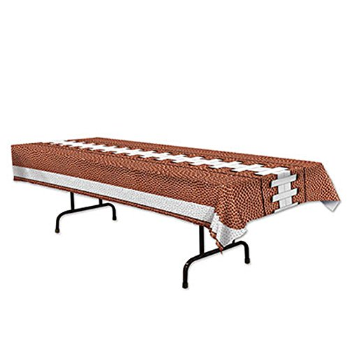 Plastic Table Cover Football Party Buffet Game Day ()