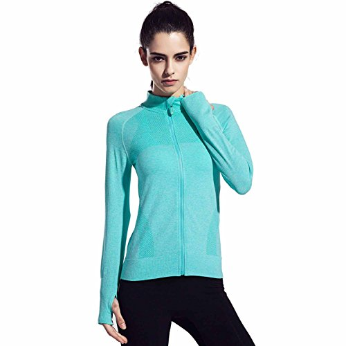Speedle Women's Workout and Yoga Zip Up Stretchy Jacket with Thumb Holes...