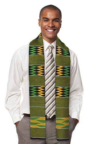 Traditional Double Weave Kente Cloth (green)