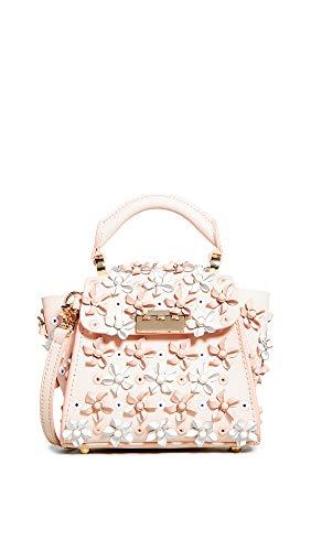 ZAC Zac Posen Women's Eartha Mini Kit Top Handle Crossbody Bag, Bellini, Pink, Floral, One Size ()