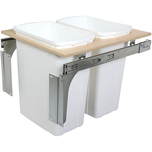 Knape & Vogt 17.5 in. x 18 in. x 22.5 in. In Cabinet Pull Out Top Mount Trash Can by Knape & Vogt
