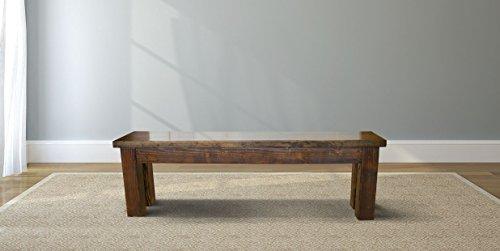 "Farmhouse Dining Bench (72"" L, Dark Walnut Stain)"