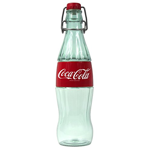 Cool Gear Swing Top Coca-Cola Bottle, 16 oz, Clear and Red by Cool Gear