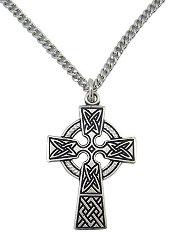 Expressions of Faith Antiqued Pewter Celtic Irish Christian Cross Pendant, 1 3/4 Inch ()