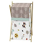 Sweet Jojo Designs Baby/Kids Clothes Laundry Hamper for Outdoor Adventure Nature Fox Bear Animals Boys Bedding