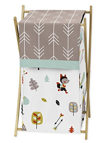 Sweet Jojo Designs Baby/Kids Clothes Laundry Hamper for Outdoor Adventure Nature Fox Bear Animals Boys Bedding