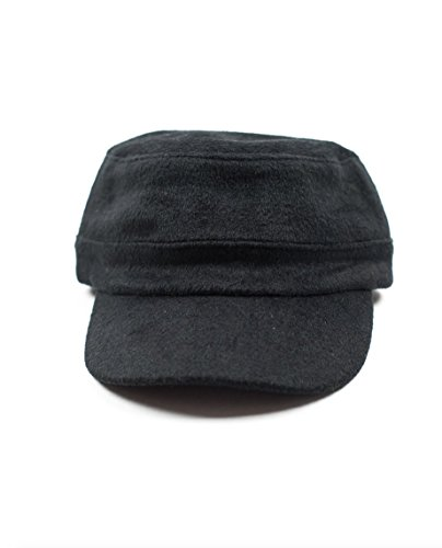 Littlest Prince Couture Black Wool Cadet Hat-Small 9 Months-2 Years