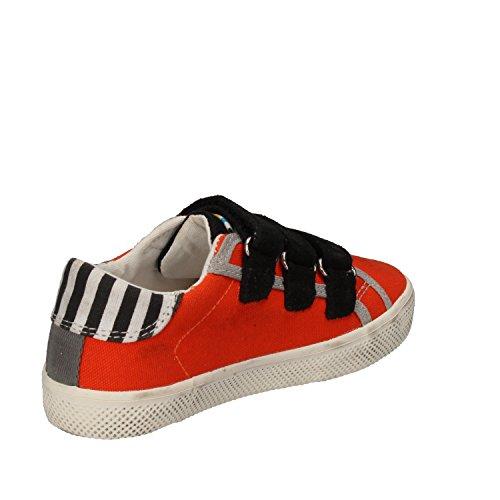 D.a.t.e. Date Sneakers Jungen 26 EU Orange Schwarz Textil Wildleder