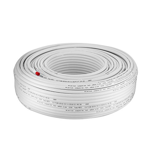 Pex Tubing White (BestEquip White PEX AL PEX Tubing 1/2 Inch by 656FT 200M Tube Coil Portable Radiant Heat PEX for Hot and Cold Water Plumbing Application (1/2Inch 656FT 200M))