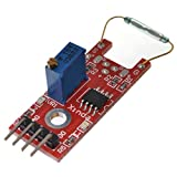 Puuli Large Reed Magnetic Switch Sensor Module with LM393 Voltage Comparator IC for Electronic Brick AVR PIC