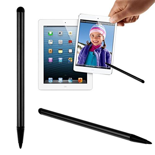 Fullfun 4.7inch Double End Silicone TouchScreen Pen Stylus Universal For iPhone iPad Samsung Tablet Phone PC (Black) (Stylus End)