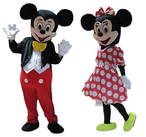 (Adults Disney Mickey and Minnie Mouse Costume for Party Cartoon)