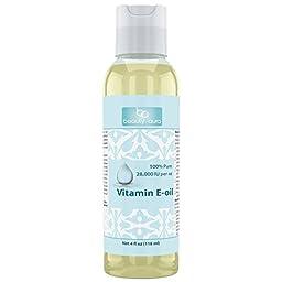 Beauty Aura Vitamin E Oil 112000 IU 4 Oz - TREAT YOUR SKIN TO THE BEST VITAMIN E