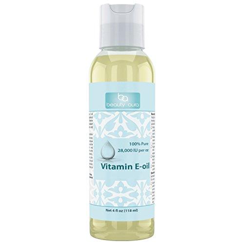Beauty Aura Vitamin E Oil 112000 IU 4 Oz - For Healthy Ha...