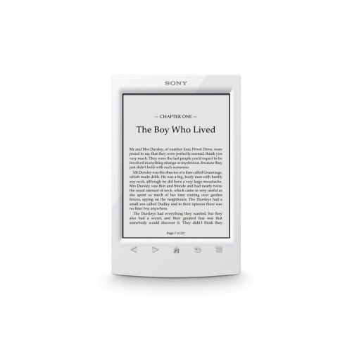 Sony PRS-T2 6'' Touchscreen Digital eBook Reader w/E-Ink Technology, Built-in Wi-Fi & microSD Card Slot (White) by Sony
