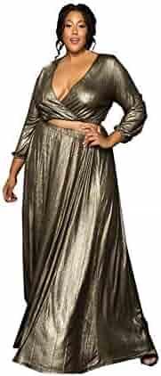 7b46e21926d Astra Signature Women s Plus Size Elastic Waist Circle Skirt Retro Pleated  Maxi Skirt