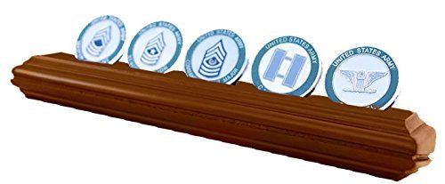 DECOMIL Military and Poker Chips Collectible Challenge Coin Holder (Medium, 1 Rows) by DECOMIL