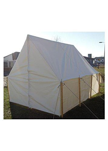 Battle Merchant Tente de Troupes, 2,50 x 2,20 m Historique Ritter Tente Roulement LARP médiéval Viking Couleurs Assorties Natur extra stark -