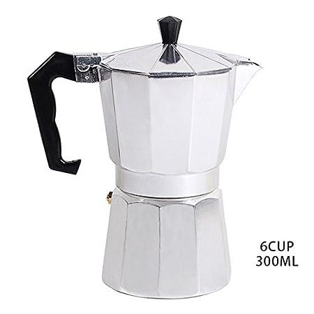 Cafetera italiana de aluminio ShoppyStar, parte superior de ...