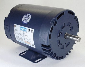 1 hp 1725 RPM 143T Frame 208-230/460 Volts Open Drip Leeson Electric Motor # 121003