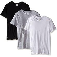 Lacoste Men's 3-Pack Essentials Cotton Crew Neck T-Shirt