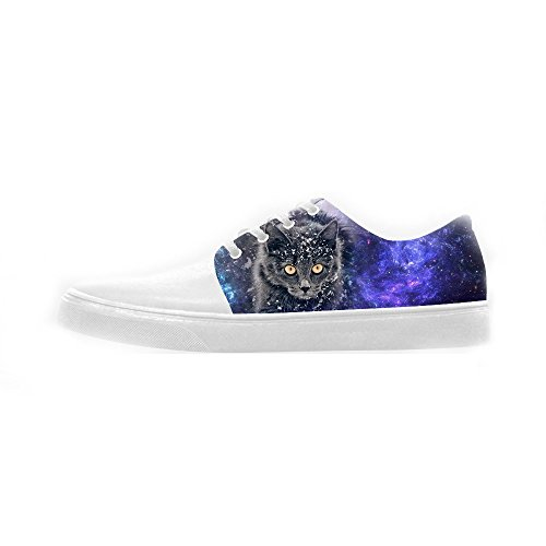 Fumetto Shoes Scarpe Del Custom Scarpe Women's Canvas Gatto Le qExATP