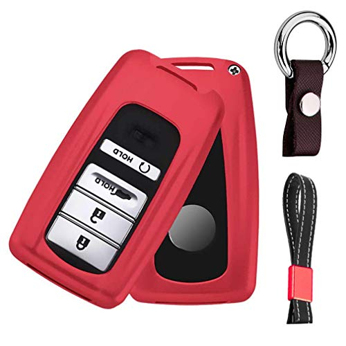 (First2savvv Premium Aluminum Metal Car Key Case Shell Cover with Key Chain for 2018 Acura TLX-L CDX MDX RDX RLX ILX)
