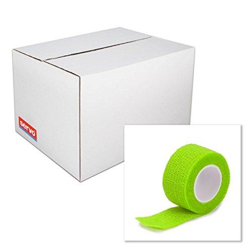 Rollenpflaster in der Farbe grün und den Maßen 2,5 cm x 4 m erhältlich | Das Pflaster ist zur schnellen Hilfe im Notfall oder als Sporttape verwendbar | 6 Rollen | Rieger