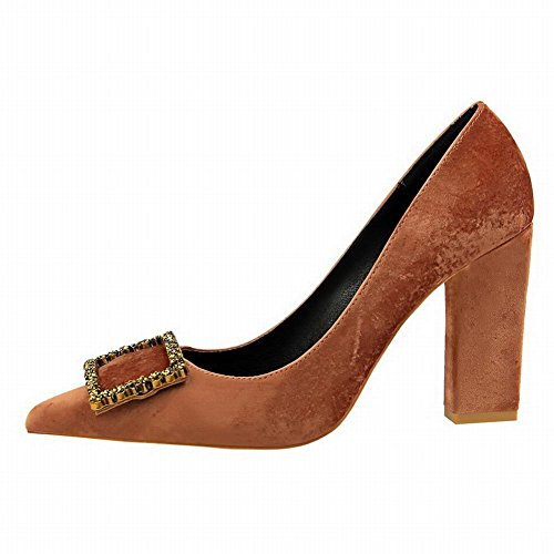 Mee Shoes Damen high heels Suede Strass Pumps Farbe5
